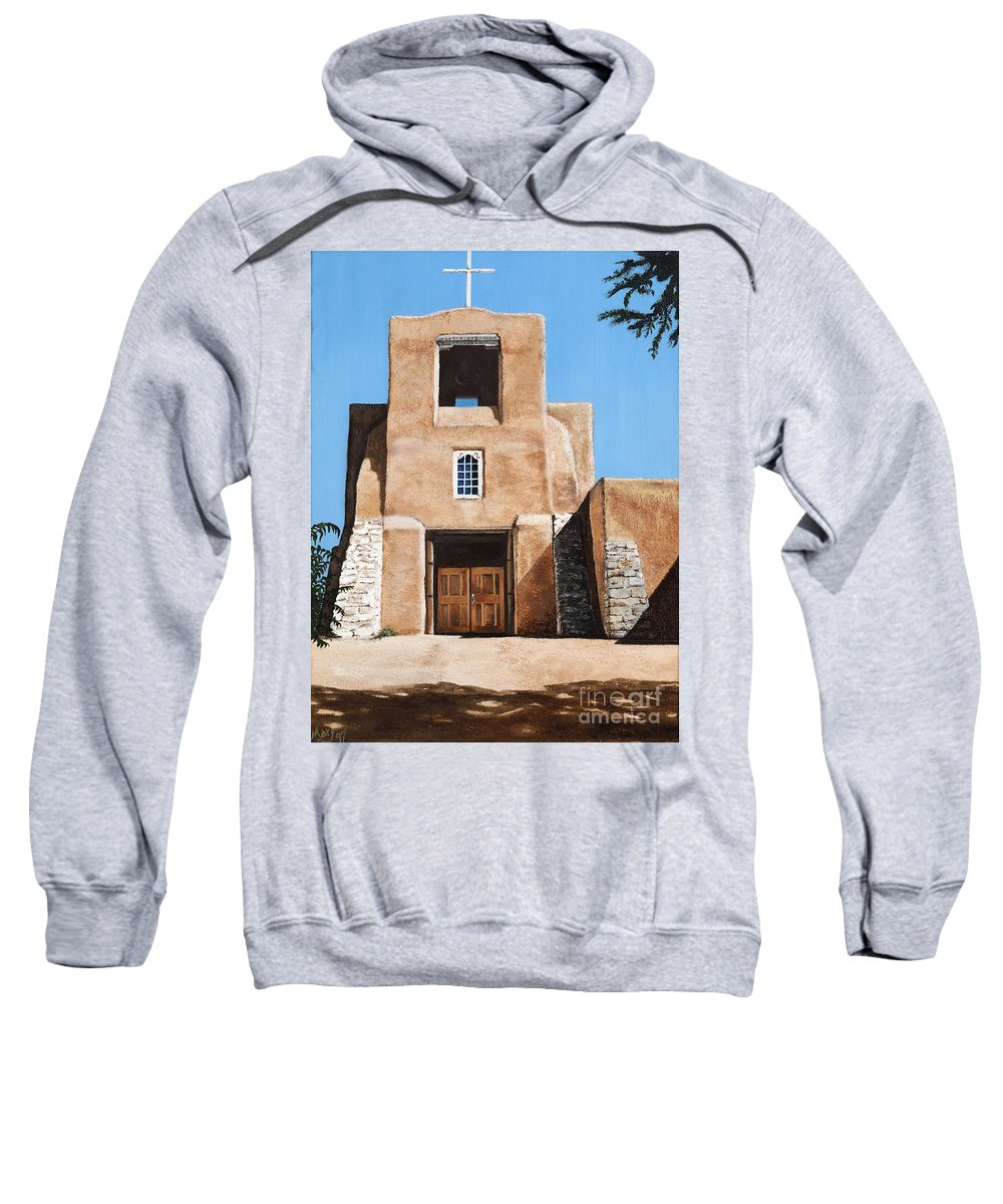Art Sweatshirt featuring the painting San Miguel by Mary Rogers