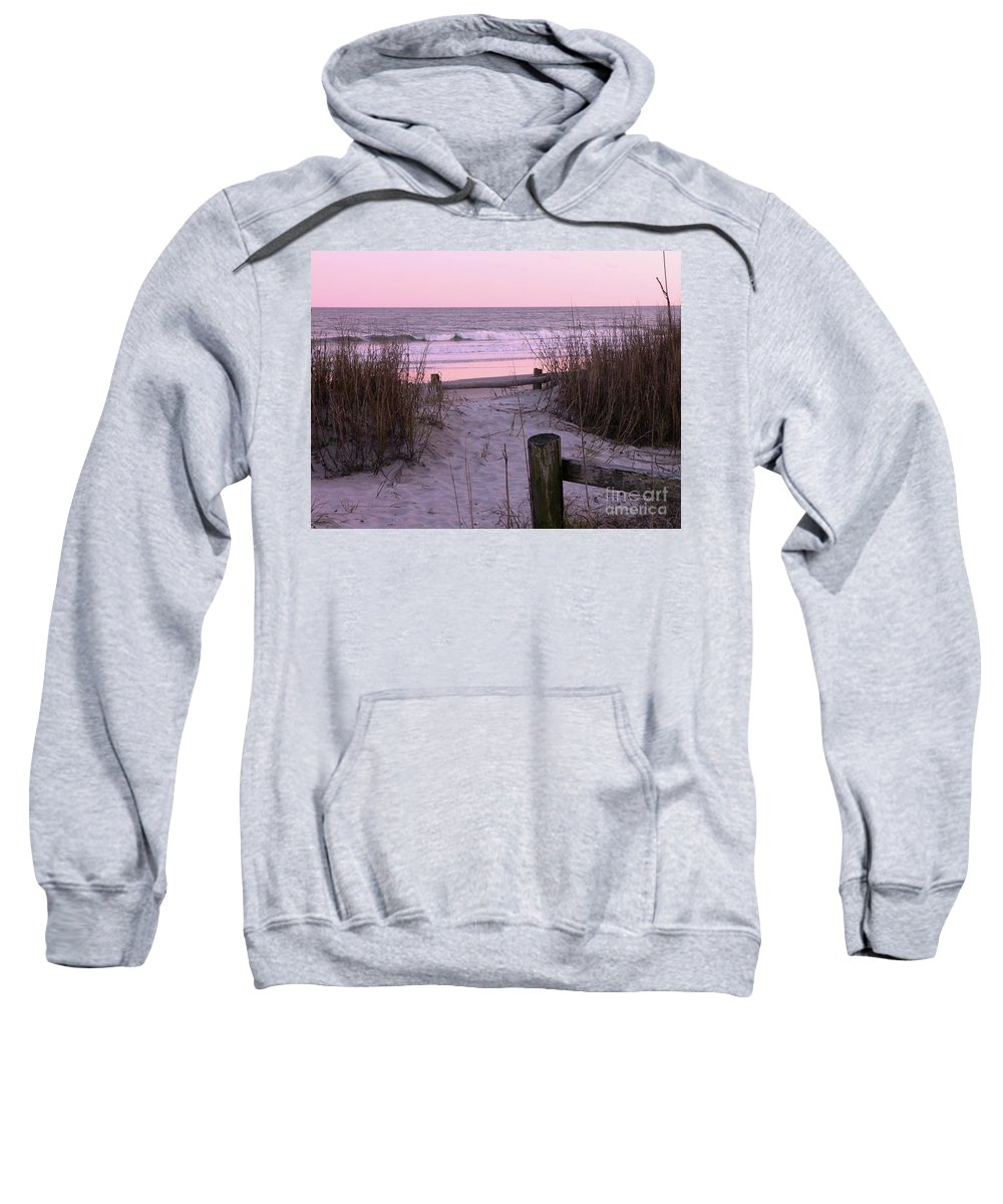 Beach Sweatshirt featuring the photograph Sand And Sea by Al Powell Photography USA