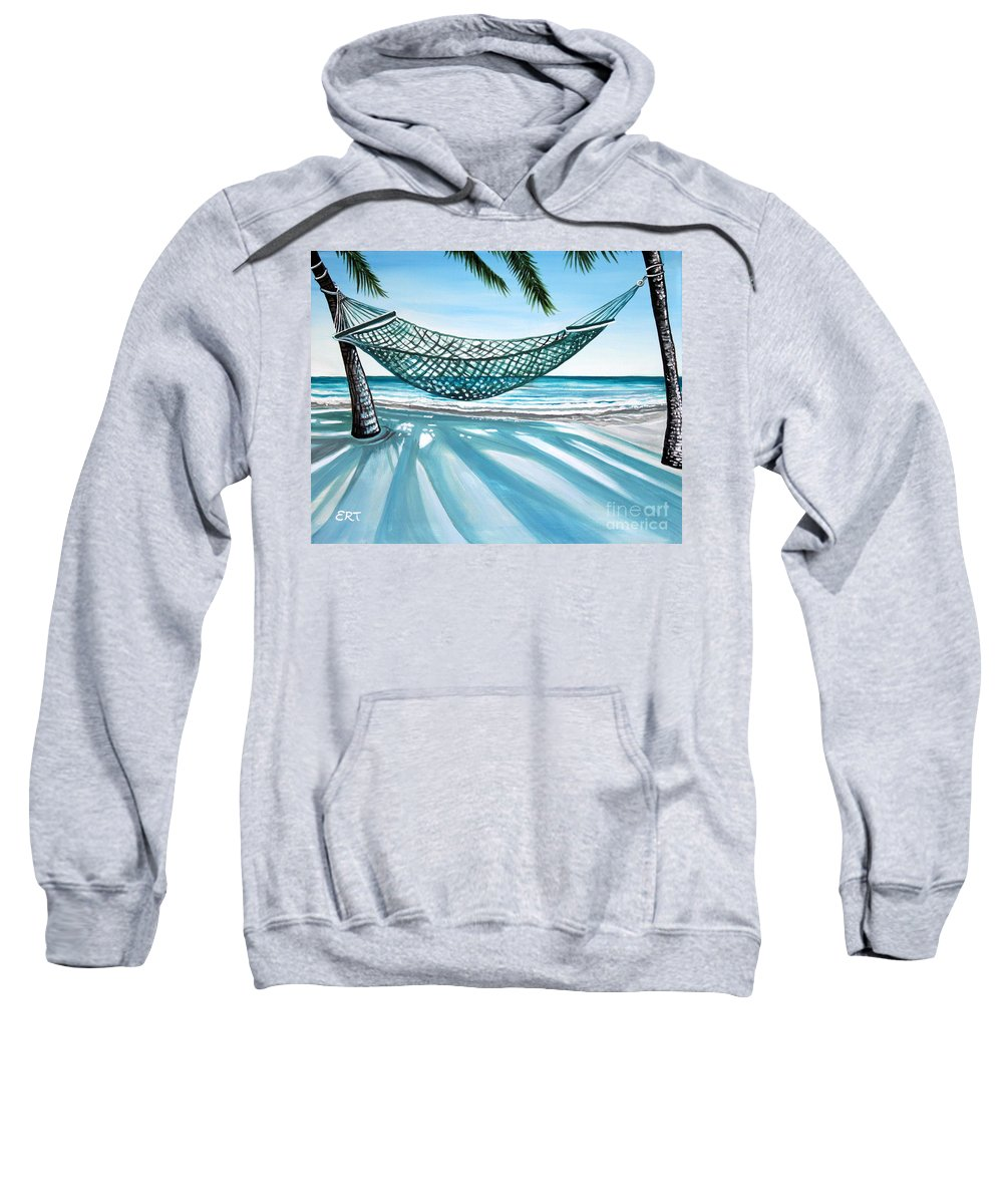 Landscape Sweatshirt featuring the painting Sand And Shadows by Elizabeth Robinette Tyndall