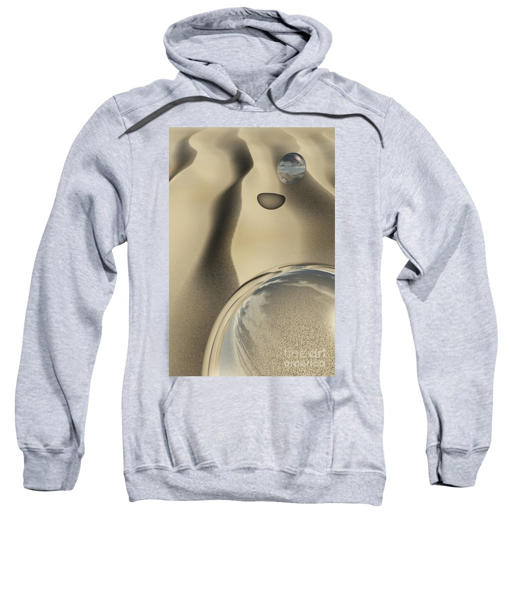 Contemporary Sweatshirt featuring the digital art Sand Bubbles by Richard Rizzo