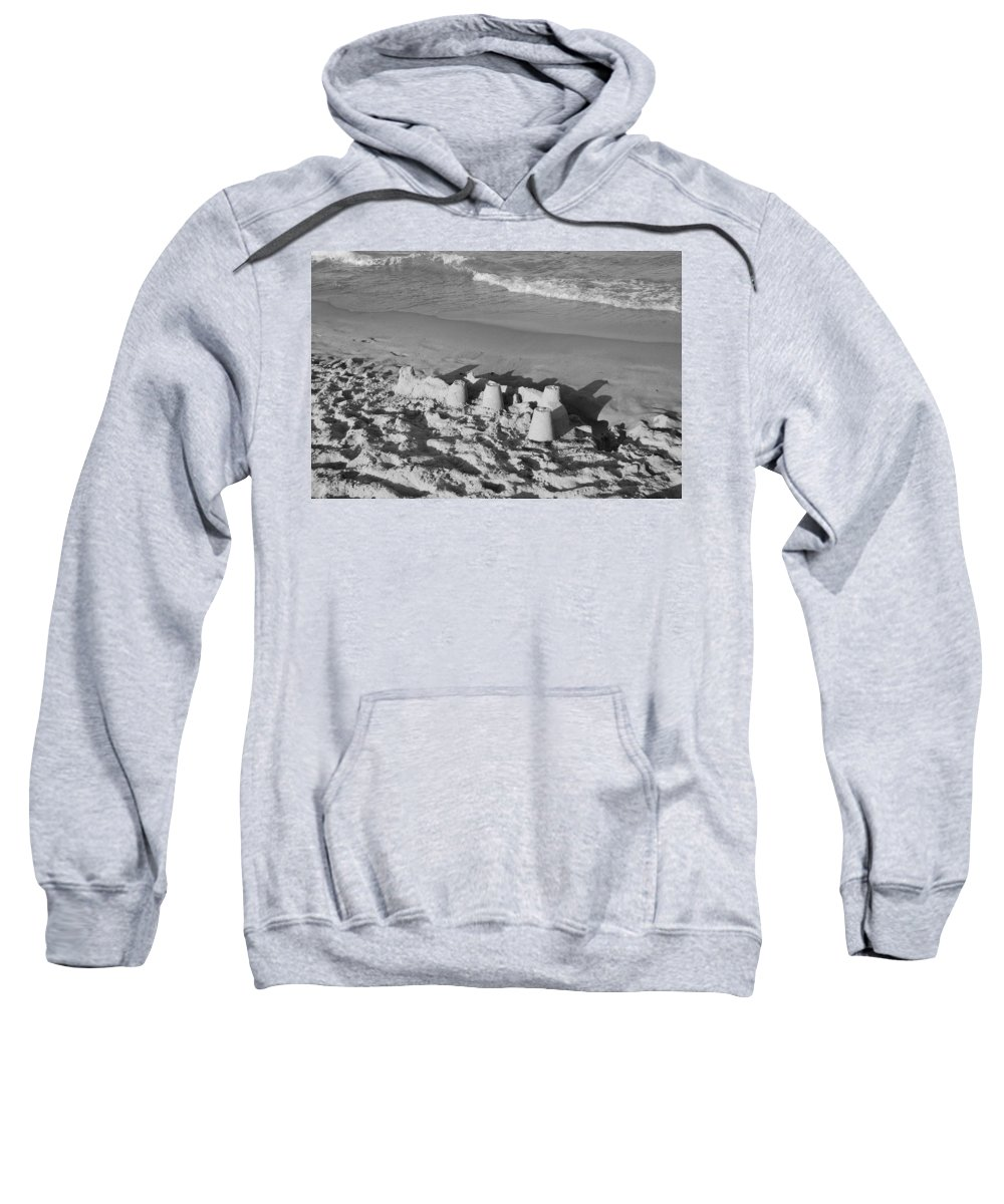 Sea Scape Sweatshirt featuring the photograph Sand Castles By The Shore by Rob Hans