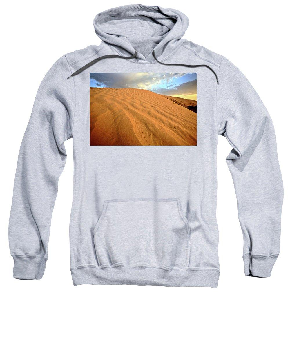 Sand Dune Sweatshirt featuring the digital art Sand Dune At Great Sand Hills In Scenic Saskatchewan by Mark Duffy
