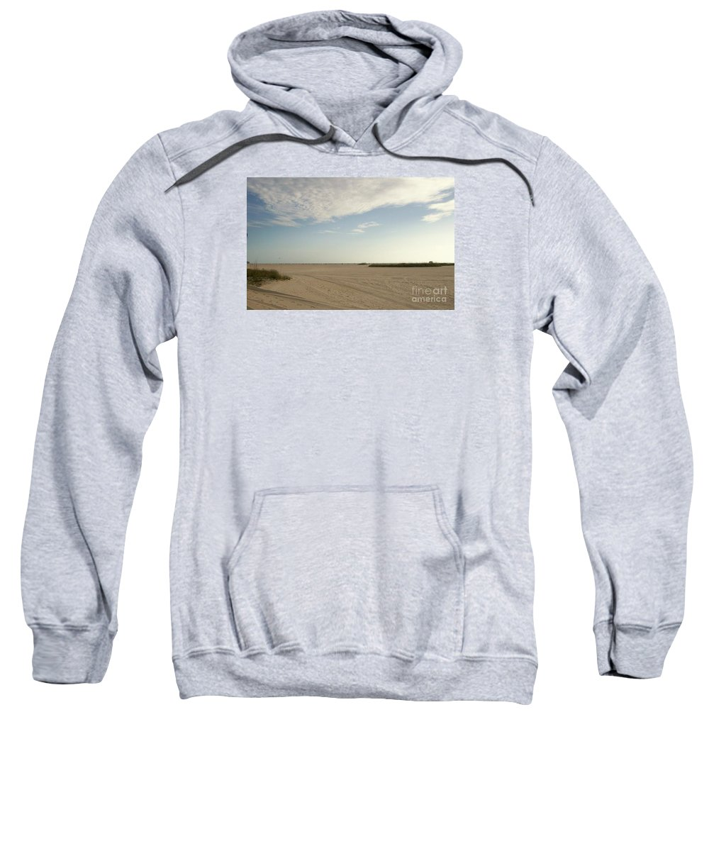 Nature Sweatshirt featuring the photograph Sand Storm At St. Pete Beach by Gail Kent