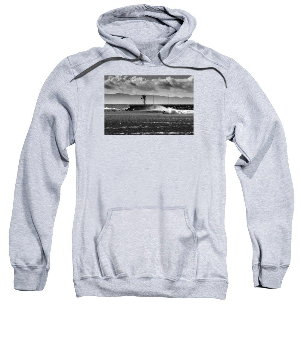 Surf Sweatshirt featuring the photograph Sandbar 2 by Zach Brown