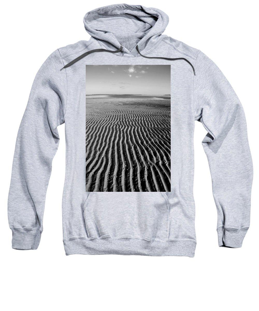 Sandbar Sweatshirt featuring the photograph Sandbar Patterns by Charles Harden