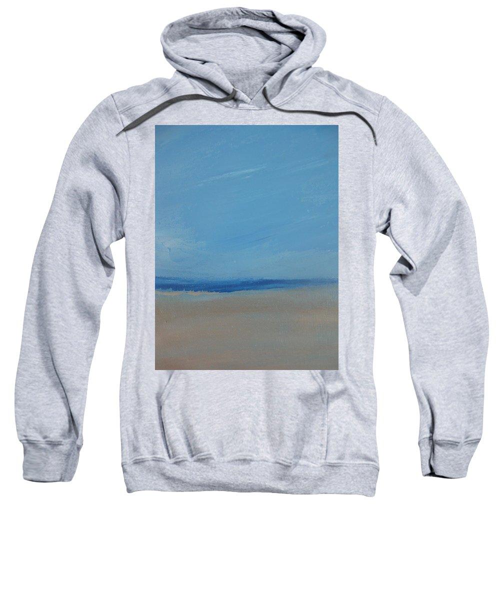 Seascape Beach Dunes Landscape Sweatshirt featuring the painting Sandflats by Kathleen Dunn