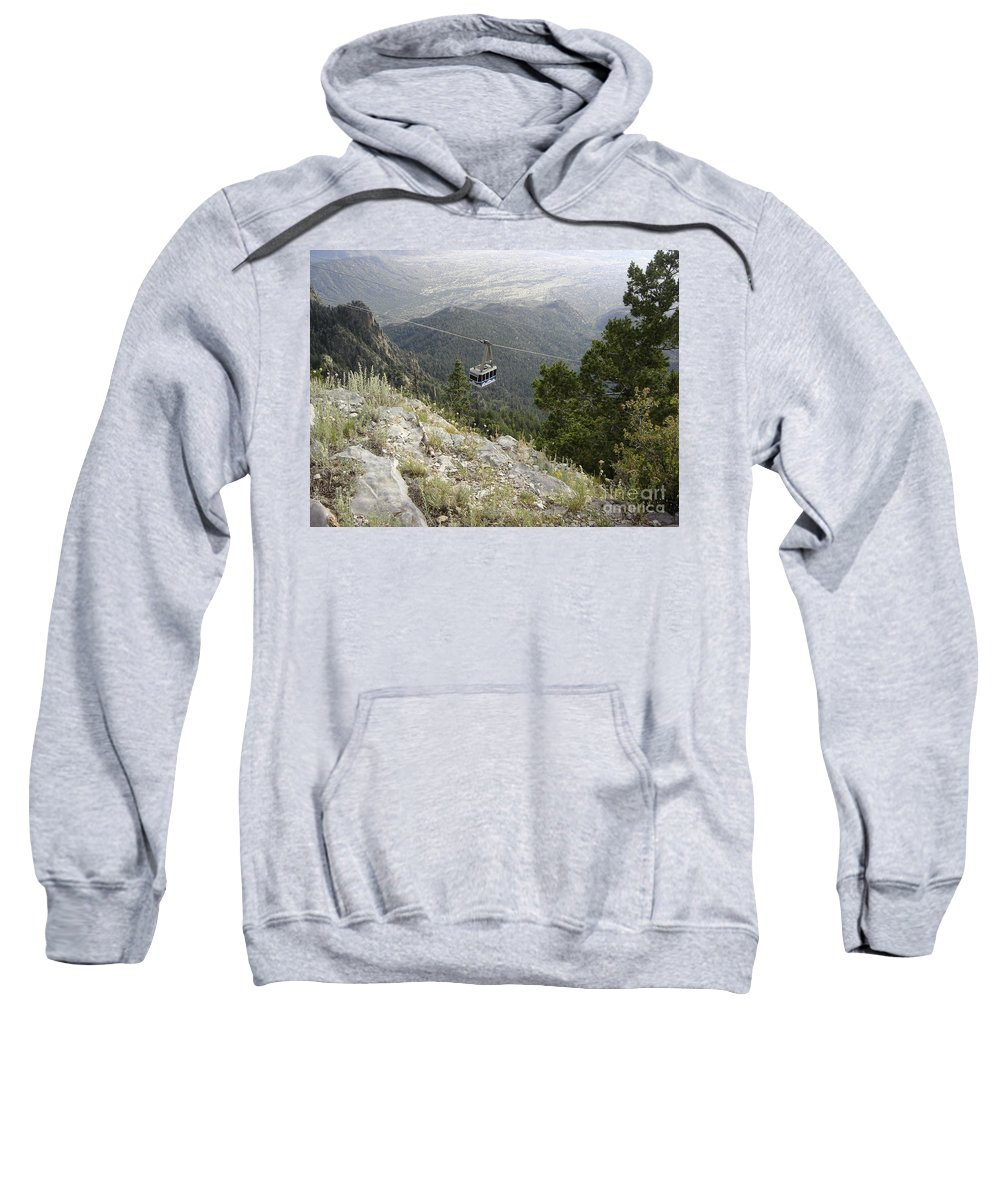 Tram Sweatshirt featuring the photograph Sandia Tram by Mary Rogers