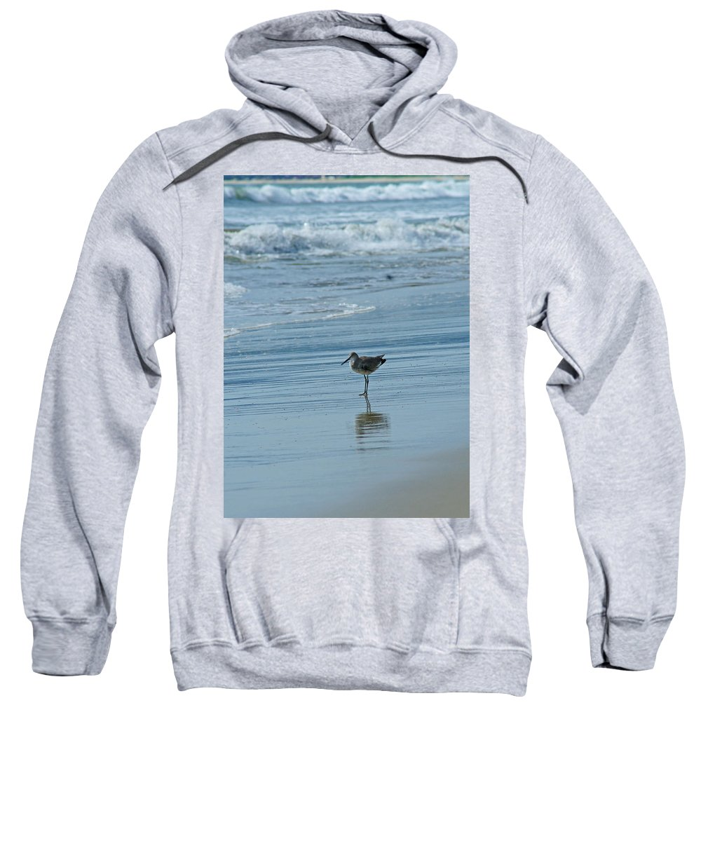Sandpiper Sweatshirt featuring the photograph Sandpiper On The Beach by Randy Harris