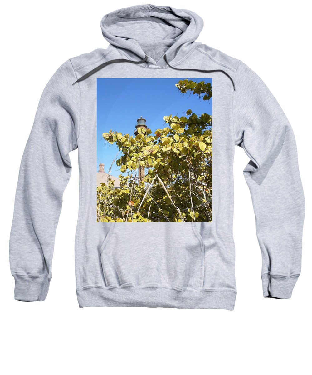 Florida Sweatshirt featuring the photograph Sanibel Lighthouse by Chris Andruskiewicz