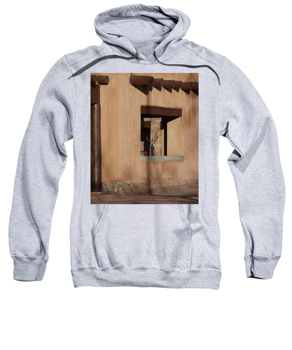 Santa Fe Sweatshirt featuring the photograph Santa Fe Adobe Window by Rob Hans