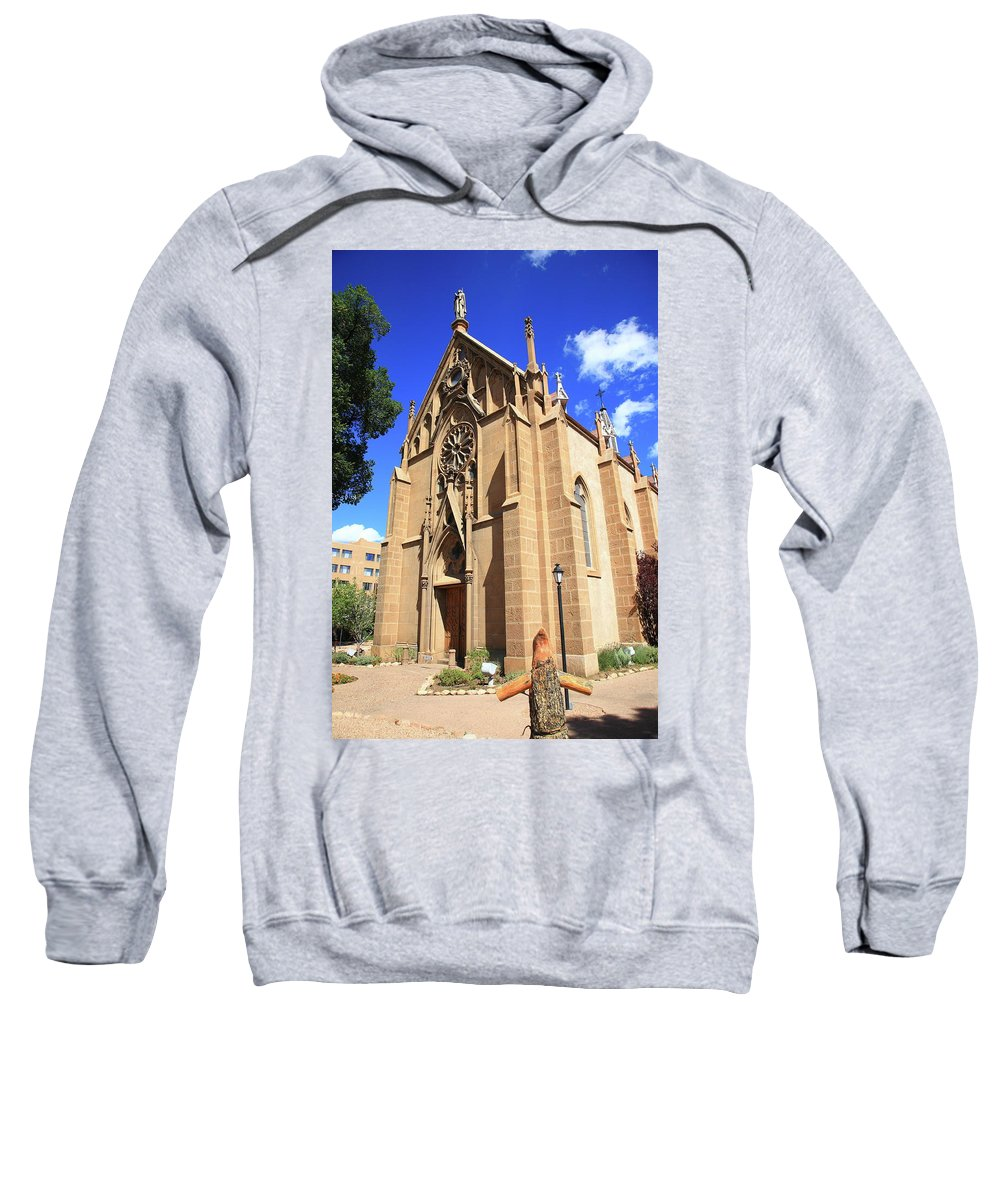 Fine Sweatshirt featuring the photograph Santa Fe Church by Frank Romeo