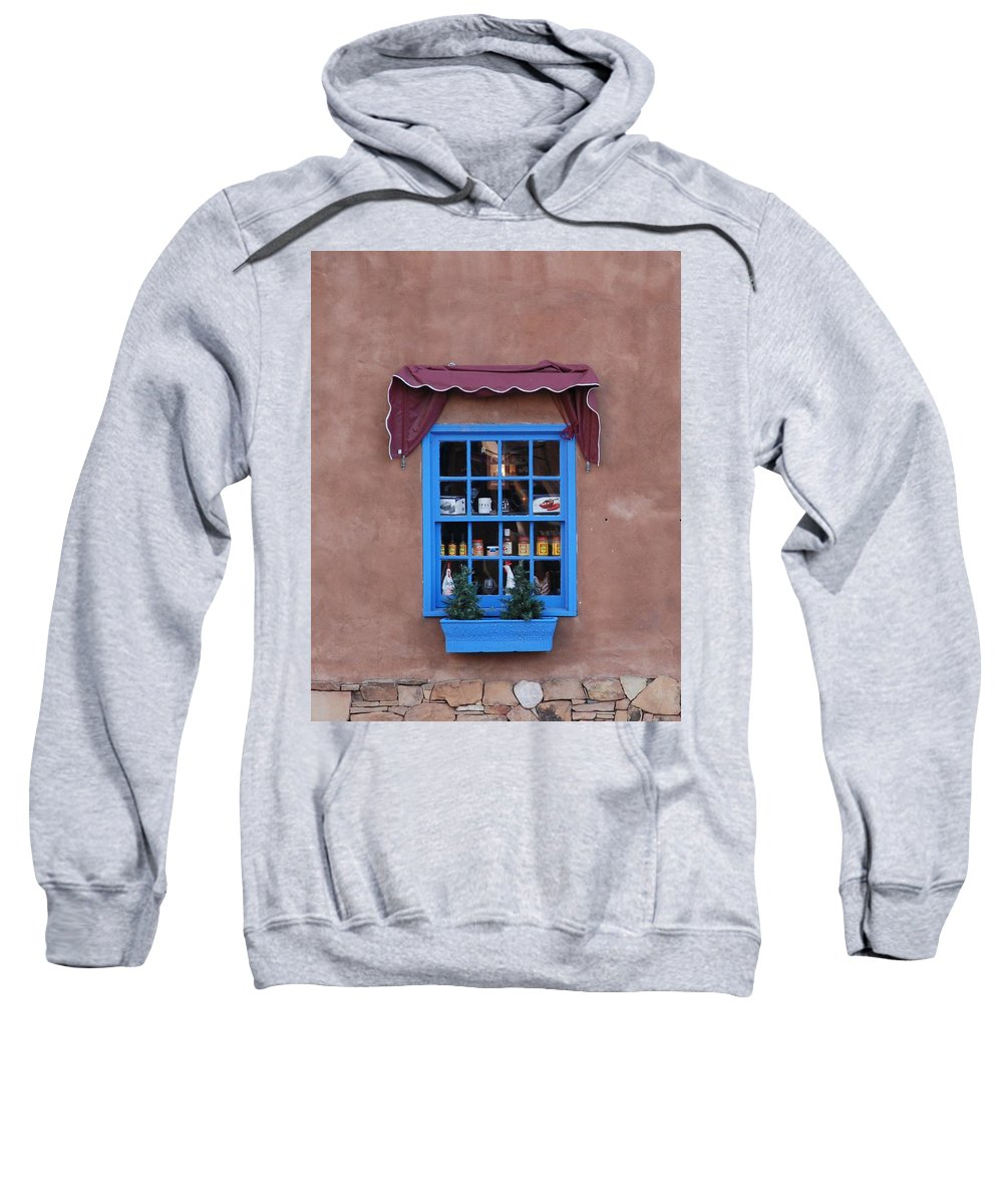 Architecture Sweatshirt featuring the photograph Santa Fe Window by Rob Hans