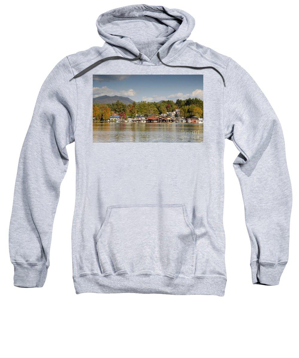 Saranac Lake New York Sweatshirt featuring the photograph Saranac Lake by David Lee Thompson