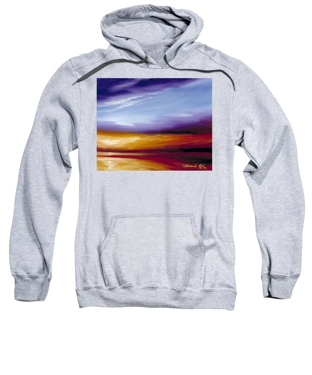 Skyscape Sweatshirt featuring the painting Sarasota Bay II by James Christopher Hill