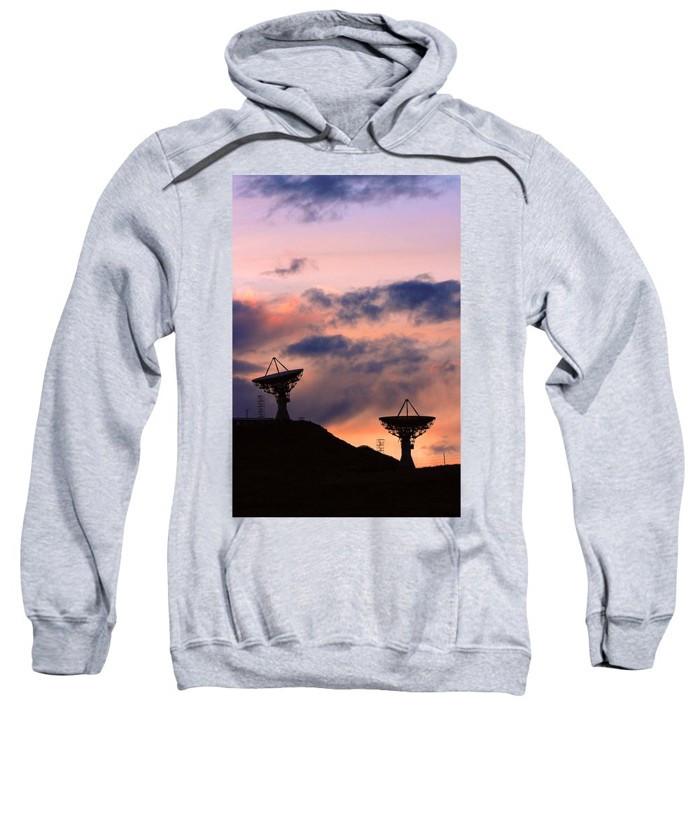 Antenna Sweatshirt featuring the photograph Satellite Sunset by James BO Insogna
