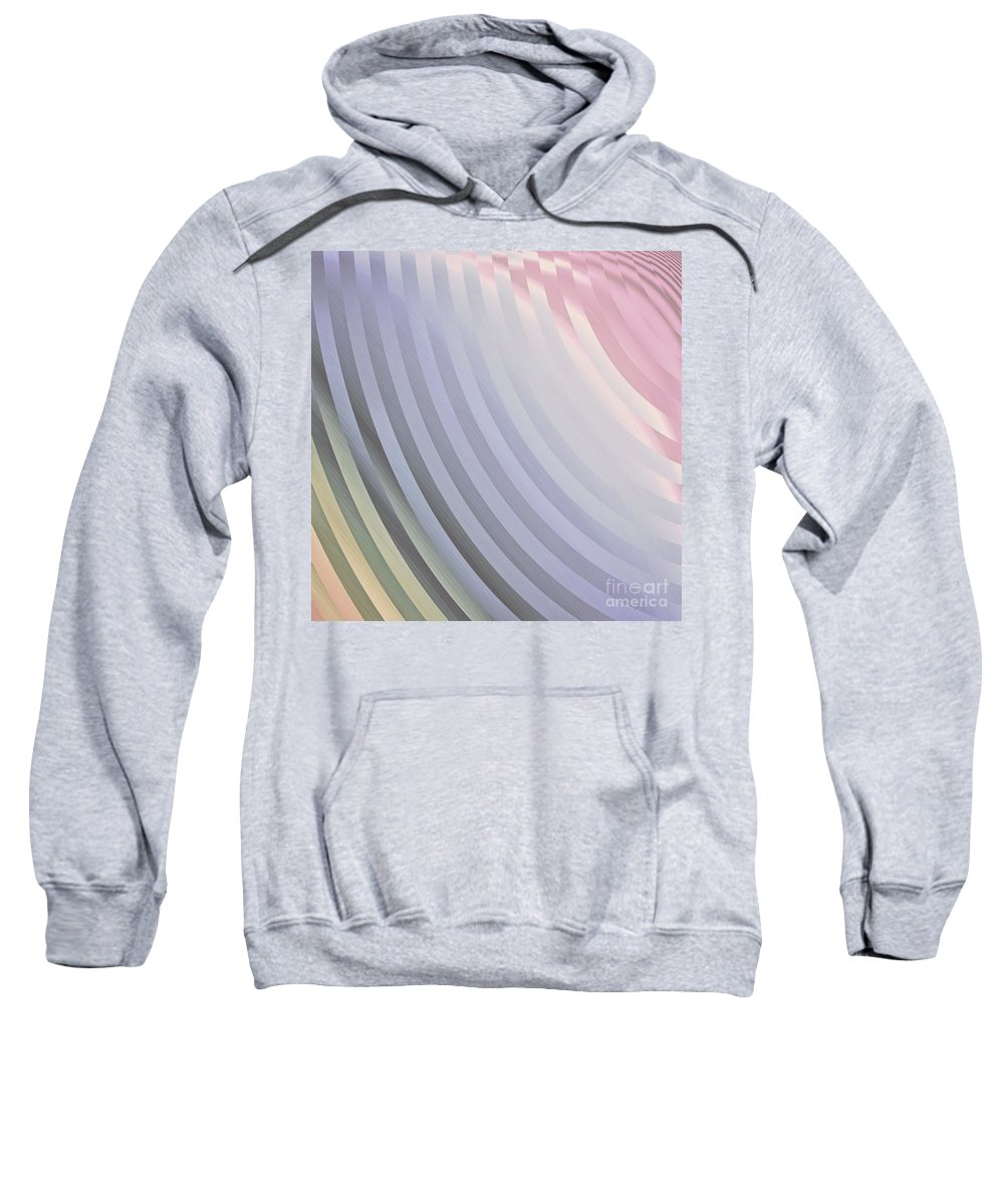 Satin Pillowcase Sweatshirt featuring the painting Satin Movements Lavender by Mindy Sommers