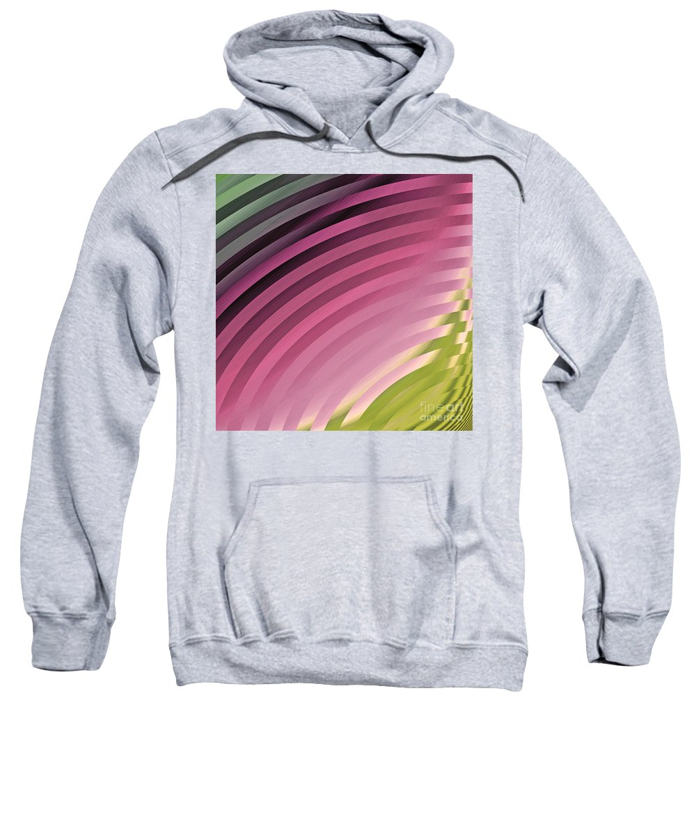 Satin Pillowcase Sweatshirt featuring the painting Satin Movements Pink II by Mindy Sommers