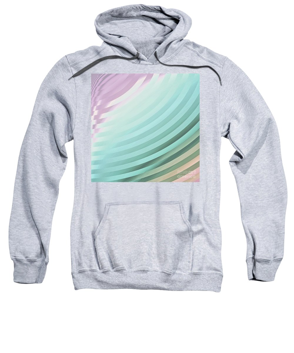 Satin Pillowcase Sweatshirt featuring the painting Satin Movements Sky Blue by Mindy Sommers