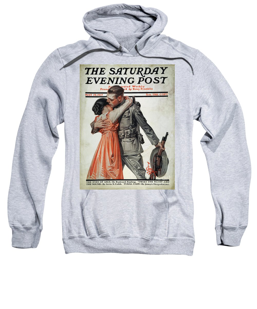 1917 Sweatshirt featuring the photograph Saturday Evening Post by Granger