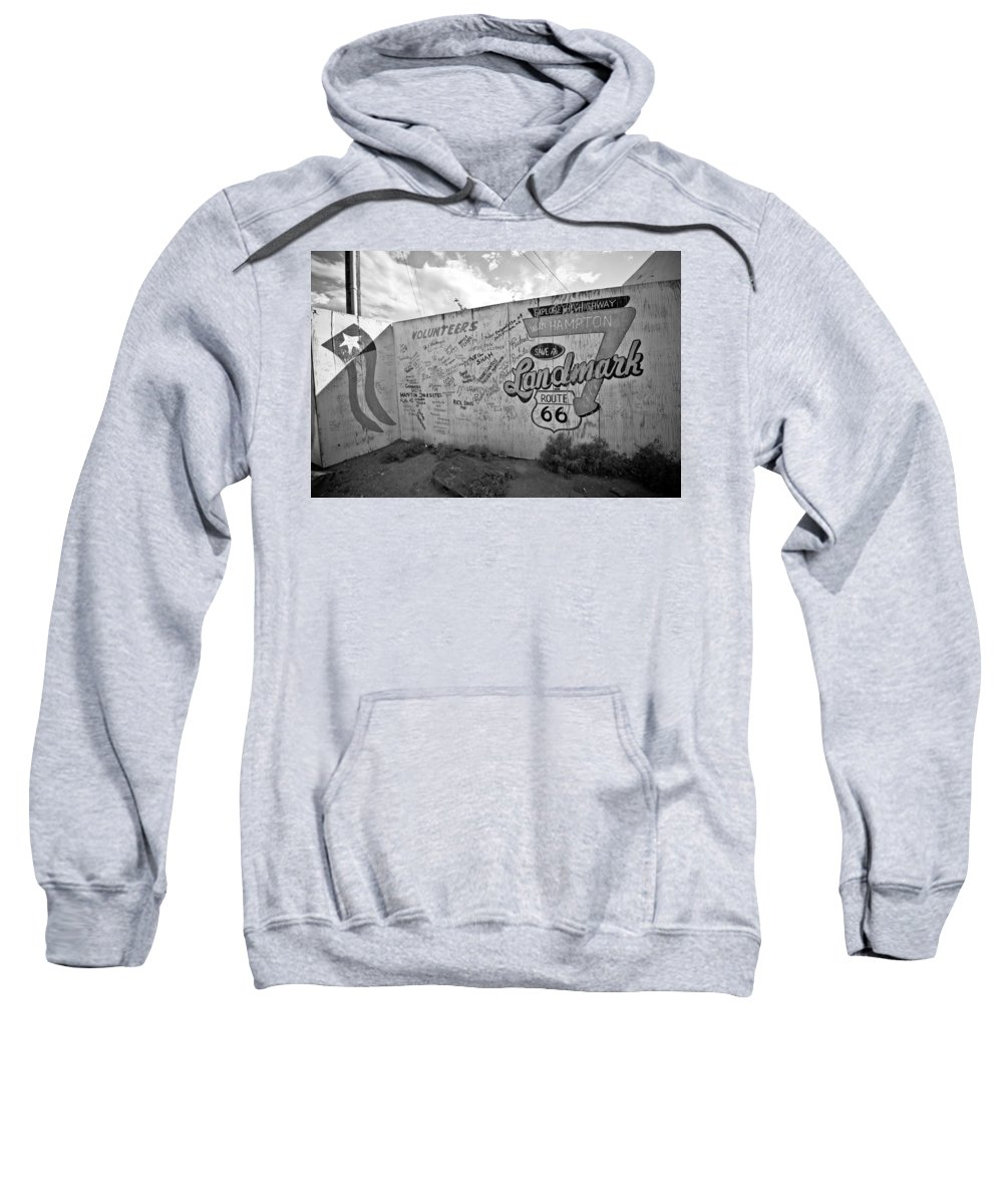 Route 66 Sweatshirt featuring the photograph Save A Landmark by Robert J Caputo