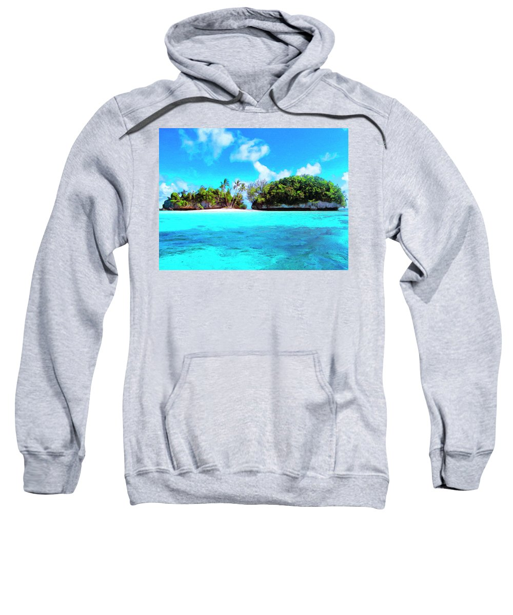 Saved Sweatshirt featuring the painting Saved by Dominic Piperata