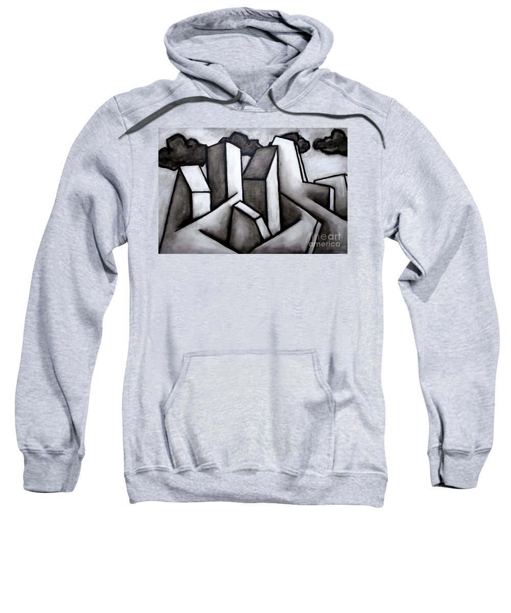 Absract Sweatshirt featuring the painting Scape by Thomas Valentine
