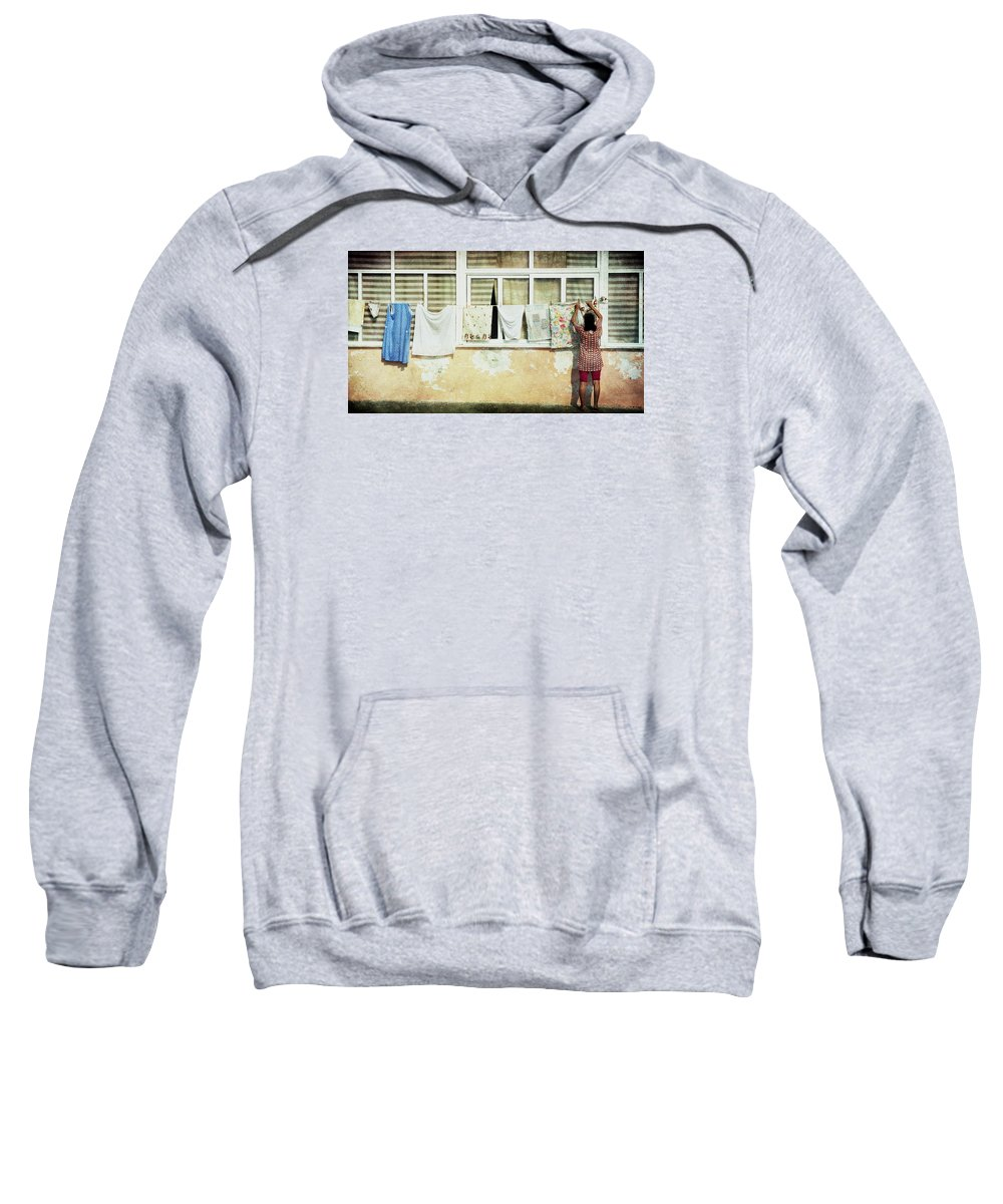 Daily Life Sweatshirt featuring the photograph Scene Of Daily Life by Vittorio Chiampan