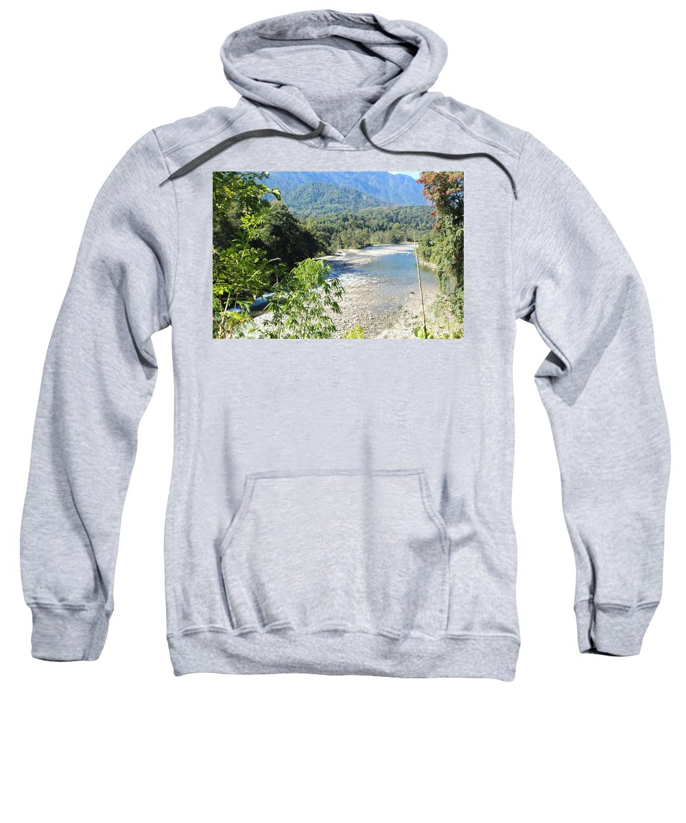 Scenery By Valeria Trot Sweatshirt featuring the photograph Scenery by Valeria New
