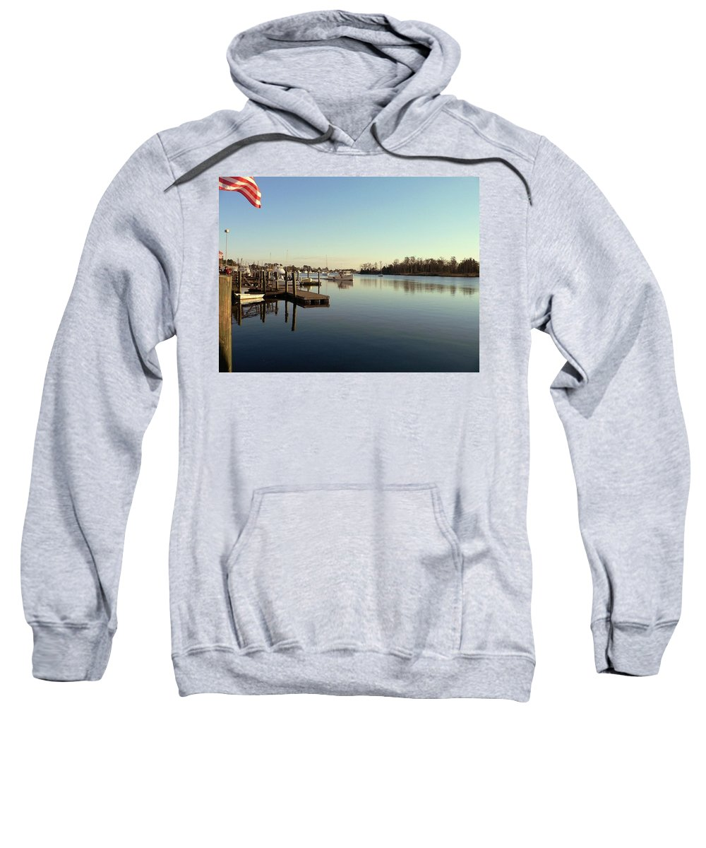 Scenic Sweatshirt featuring the photograph Scenic River 01 by Al Powell Photography USA