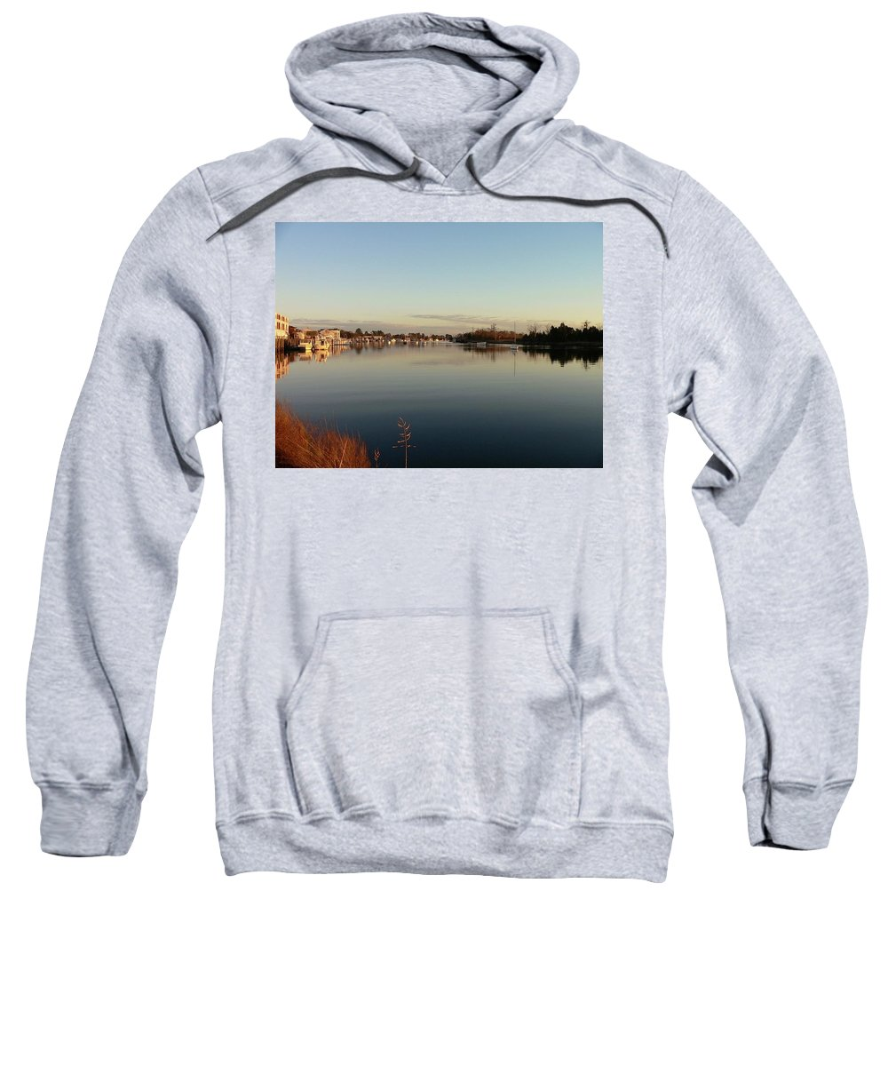 Scenic Sweatshirt featuring the photograph Scenic River 02 by Al Powell Photography USA