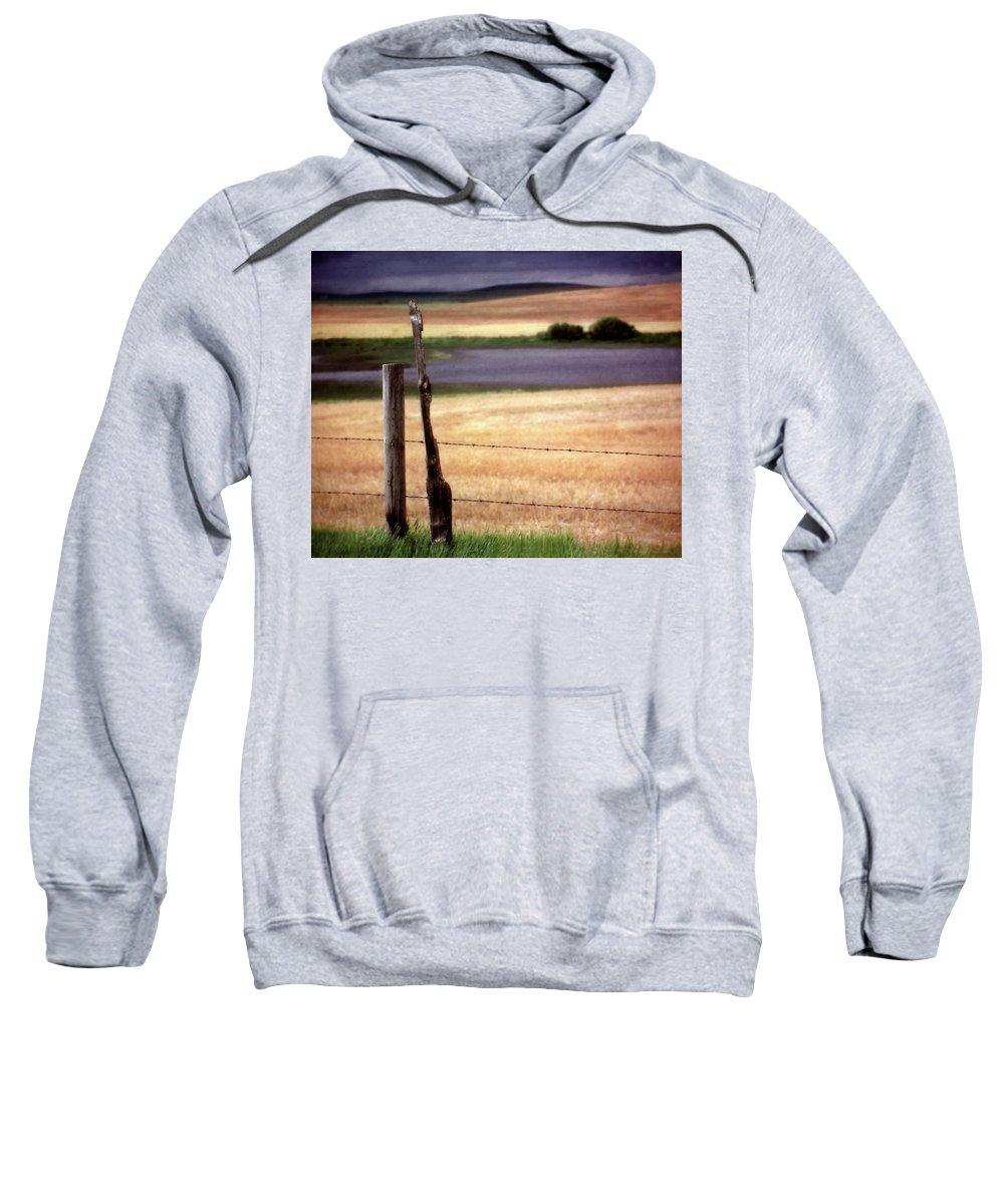 Sweatshirt featuring the digital art Scenic Saskatchewan Landscape by Mark Duffy