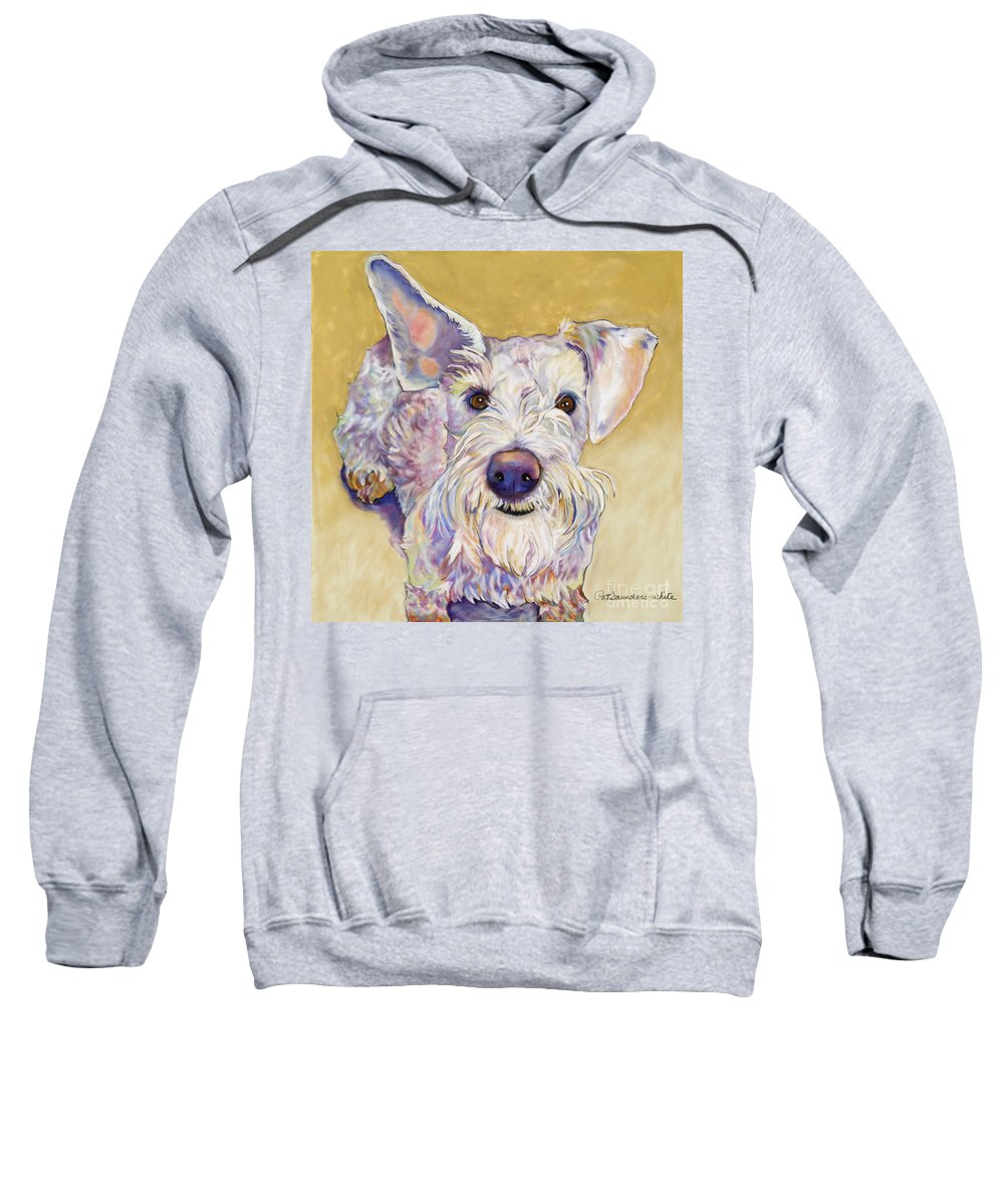Schnauzer Sweatshirt featuring the pastel Scooter by Pat Saunders-White