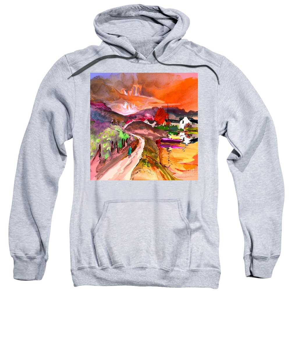 Scotland Paintings Sweatshirt featuring the painting Scotland 02 by Miki De Goodaboom
