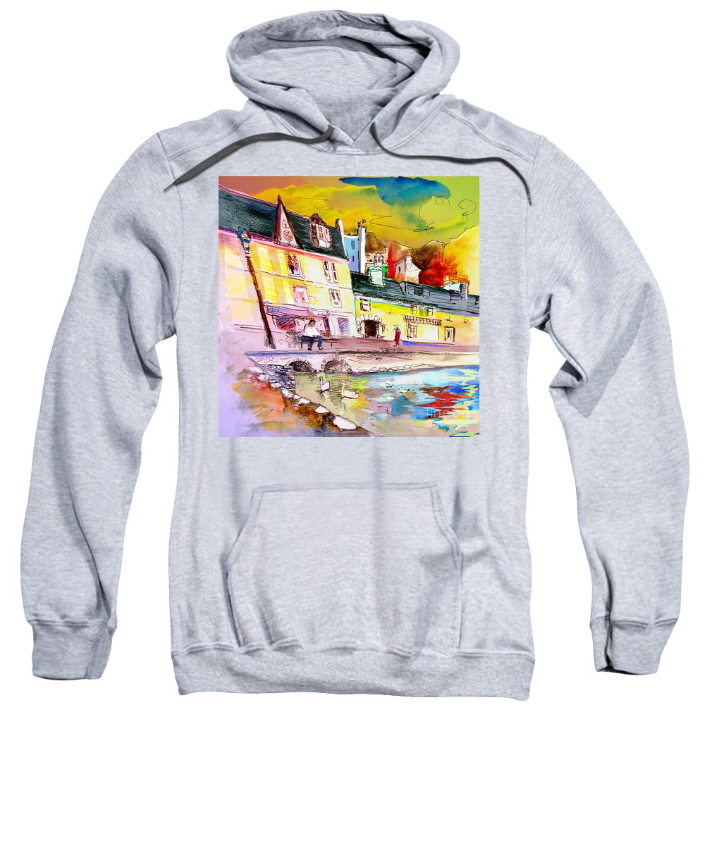 Scotland Paintings Sweatshirt featuring the painting Scotland 04 by Miki De Goodaboom