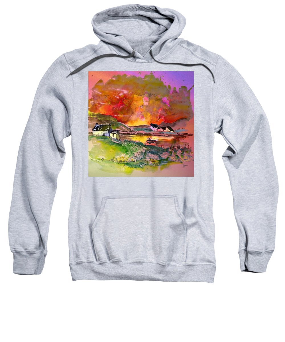 Scotland Paintings Sweatshirt featuring the painting Scotland 07 by Miki De Goodaboom