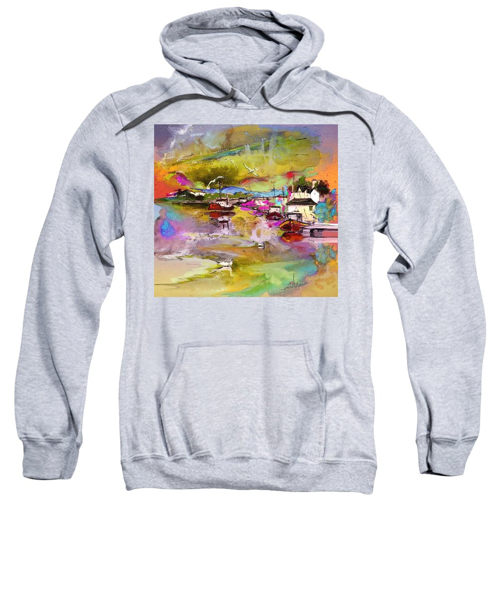 Scotland Paintings Sweatshirt featuring the painting Scotland 13 by Miki De Goodaboom