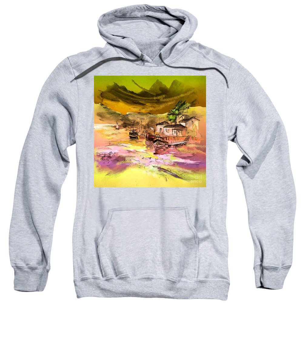 Scotland Paintings Sweatshirt featuring the painting Scotland 14 by Miki De Goodaboom