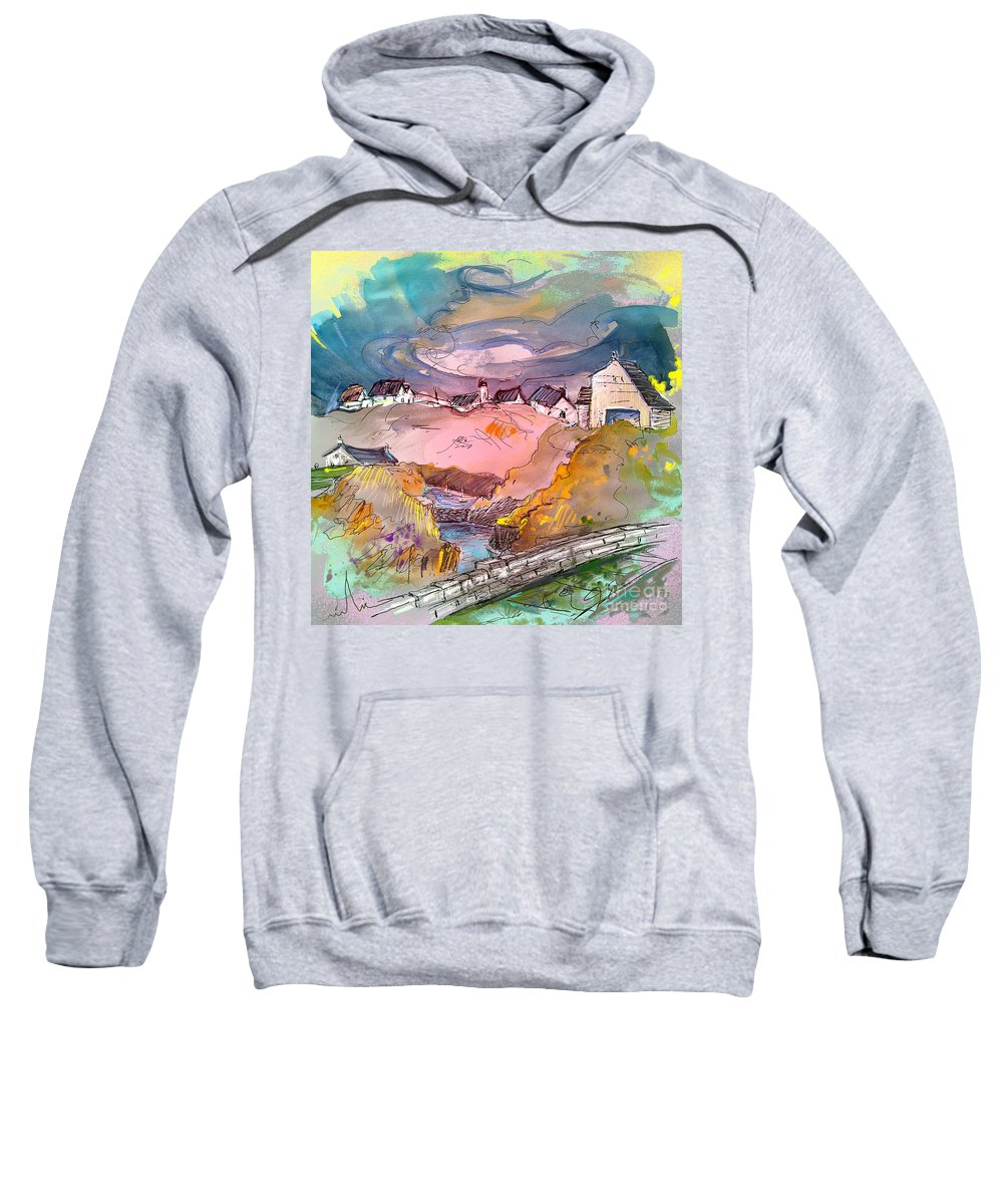 Scotland Paintings Sweatshirt featuring the painting Scotland 17 by Miki De Goodaboom