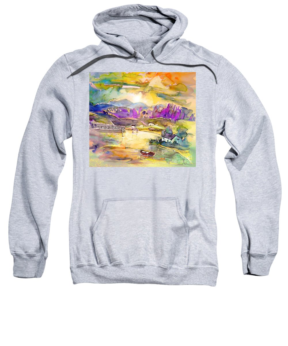 Scotland Sweatshirt featuring the painting Scotland 19 by Miki De Goodaboom