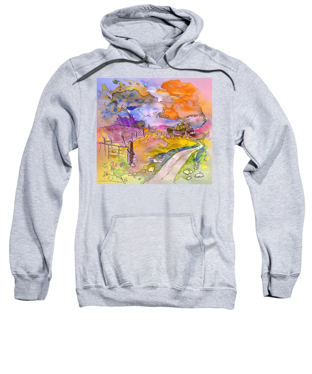 Scotland Sweatshirt featuring the painting Scotland 22 by Miki De Goodaboom