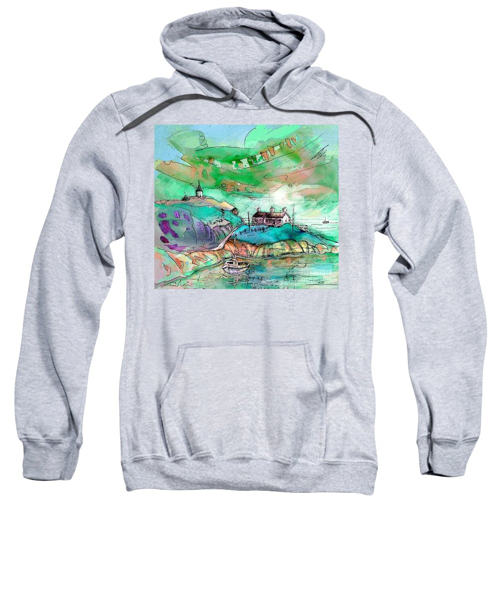 Scotland Sweatshirt featuring the painting Scotland 25 by Miki De Goodaboom