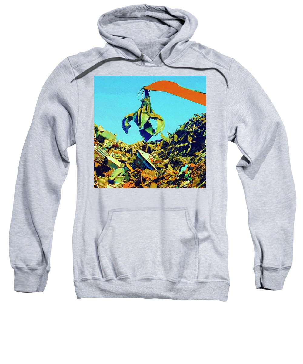 Scrap Sweatshirt featuring the painting Scrap by Dominic Piperata