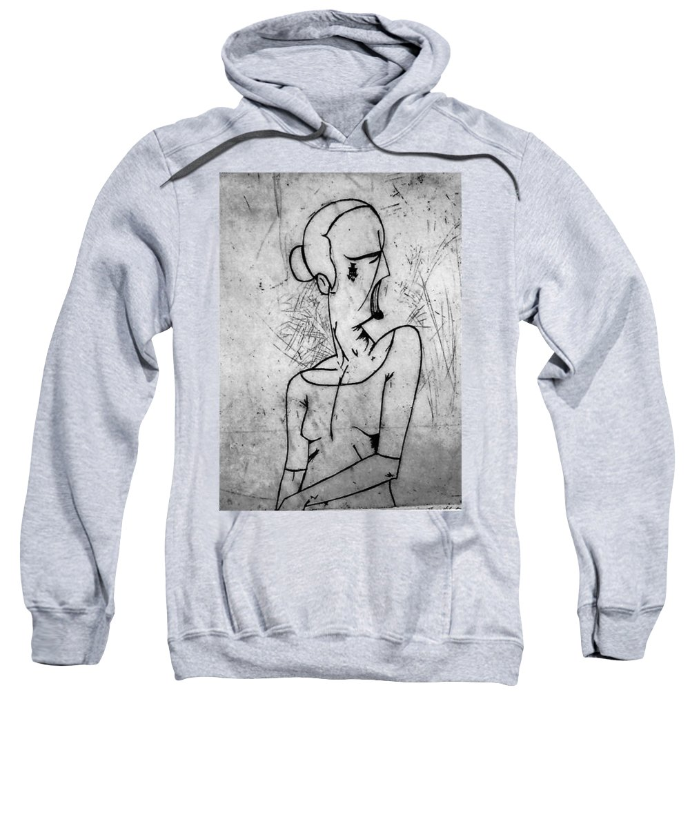 Misc Sweatshirt featuring the relief Screamer by Thomas Valentine