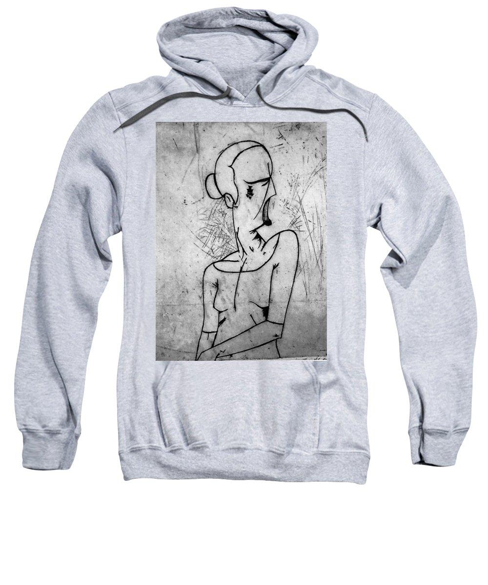 Misc Sweatshirt featuring the print Screamer by Thomas Valentine