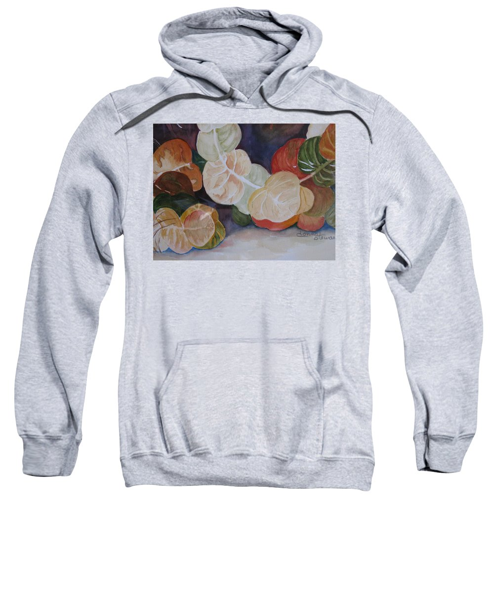 Colorful Sweatshirt featuring the painting Sea Grapes by Donna Steward