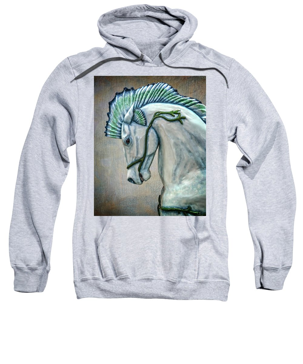 Sea Horse Sweatshirt featuring the photograph Sea Horse by Wes and Dotty Weber