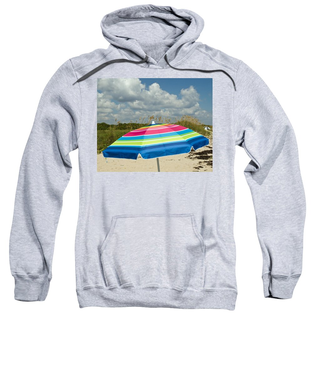 Florida; Beach; Coast; Shore; Atlantic; East; Waves; Sand; Dunes; Sea; Oats; Seaoats; Plant; Grass; Sweatshirt featuring the photograph Sea Oats On The Beach by Allan Hughes