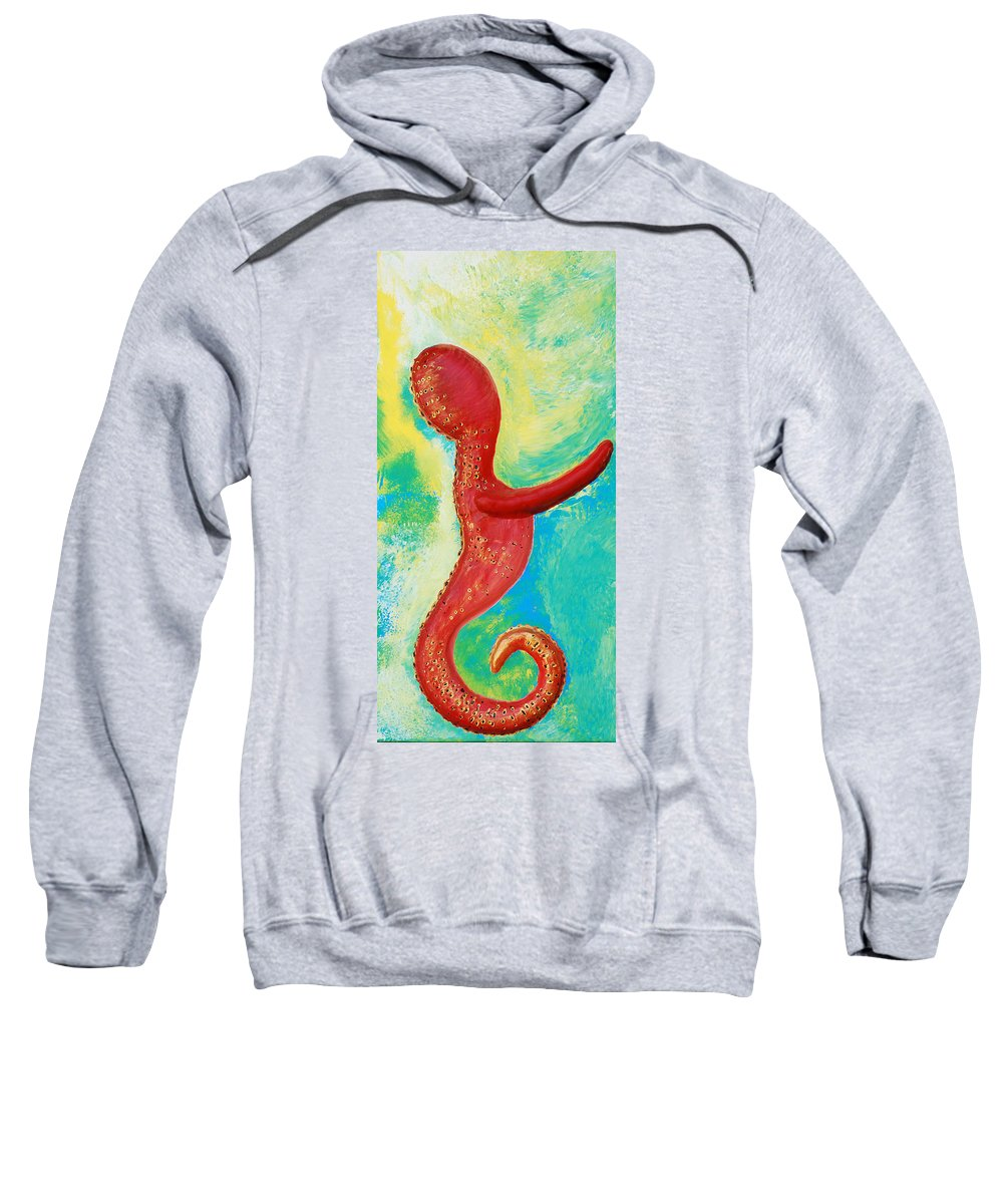 Sea Of Love Sweatshirt featuring the painting Sea Of Love by Catt Kyriacou