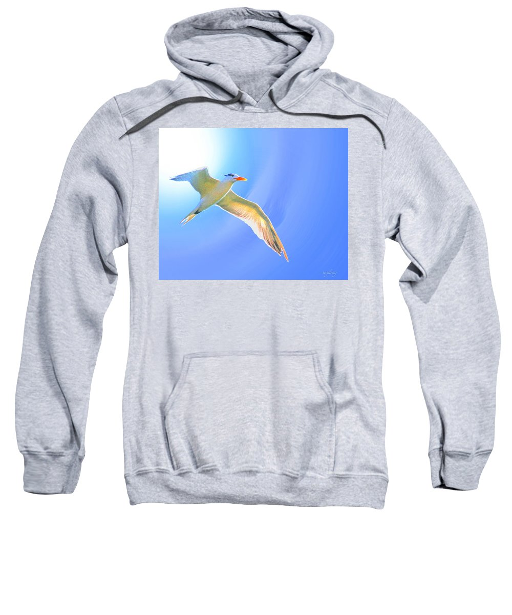 God Sweatshirt featuring the photograph Sea Tern If I Were A Bird by W Gilroy