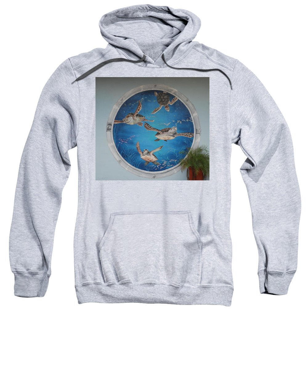 Sea Turtles Sweatshirt featuring the photograph Sea Turtles by Rob Hans